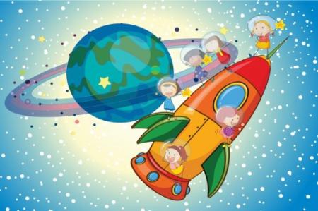 #ZOSTANWDOMU Kreatywne prace plastyczne-kosmos