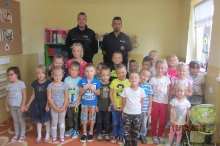 2018.09.11- Wizyta pana policjanta i strażnika miejskiego